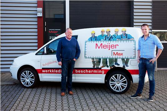 Showroom Meijermax bedrijfskleding